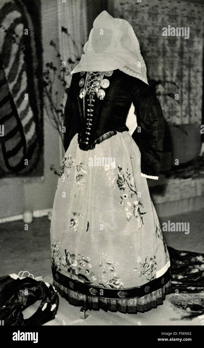 Antique Danish dress, Denmark - Stock Image