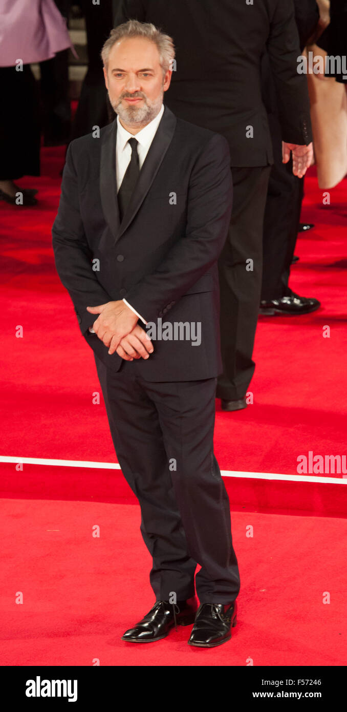 Director Sam Mendes attending the world premiere of the latest 'Bond' movie 'Spectre' at the Royal - Stock Image