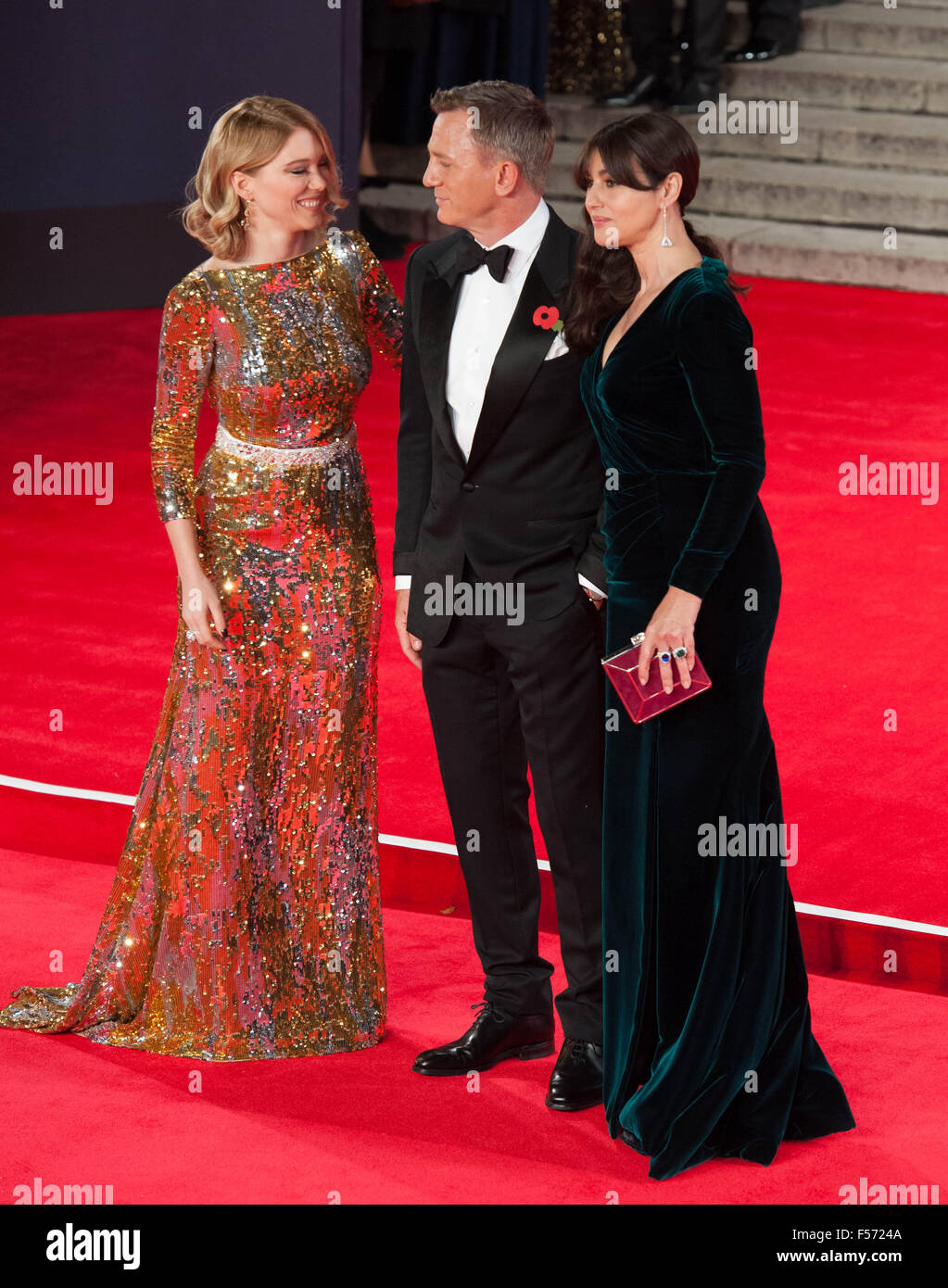 Lea Seydoux attending the world premiere of the latest 'Bond' movie 'Spectre' at the Royal Albert - Stock Image