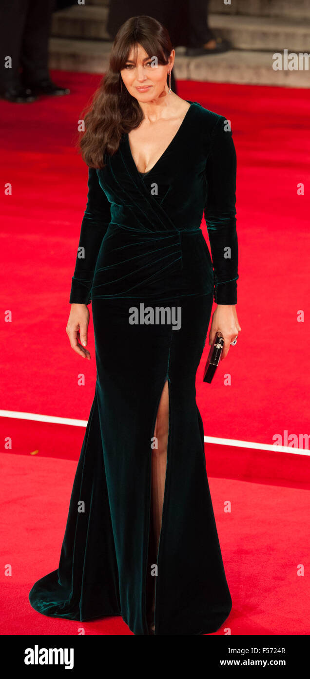 Monica Bellucci attending the world premiere of the latest 'Bond' movie 'Spectre' at the Royal Albert - Stock Image