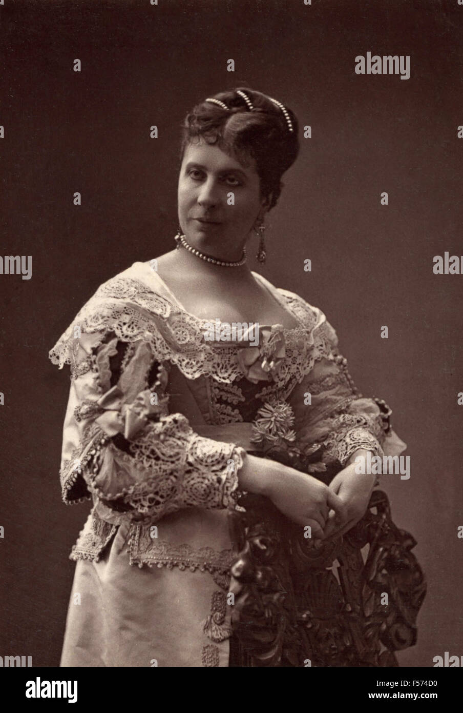 The actress Mary Favart the Comedie Francaise - Stock Image