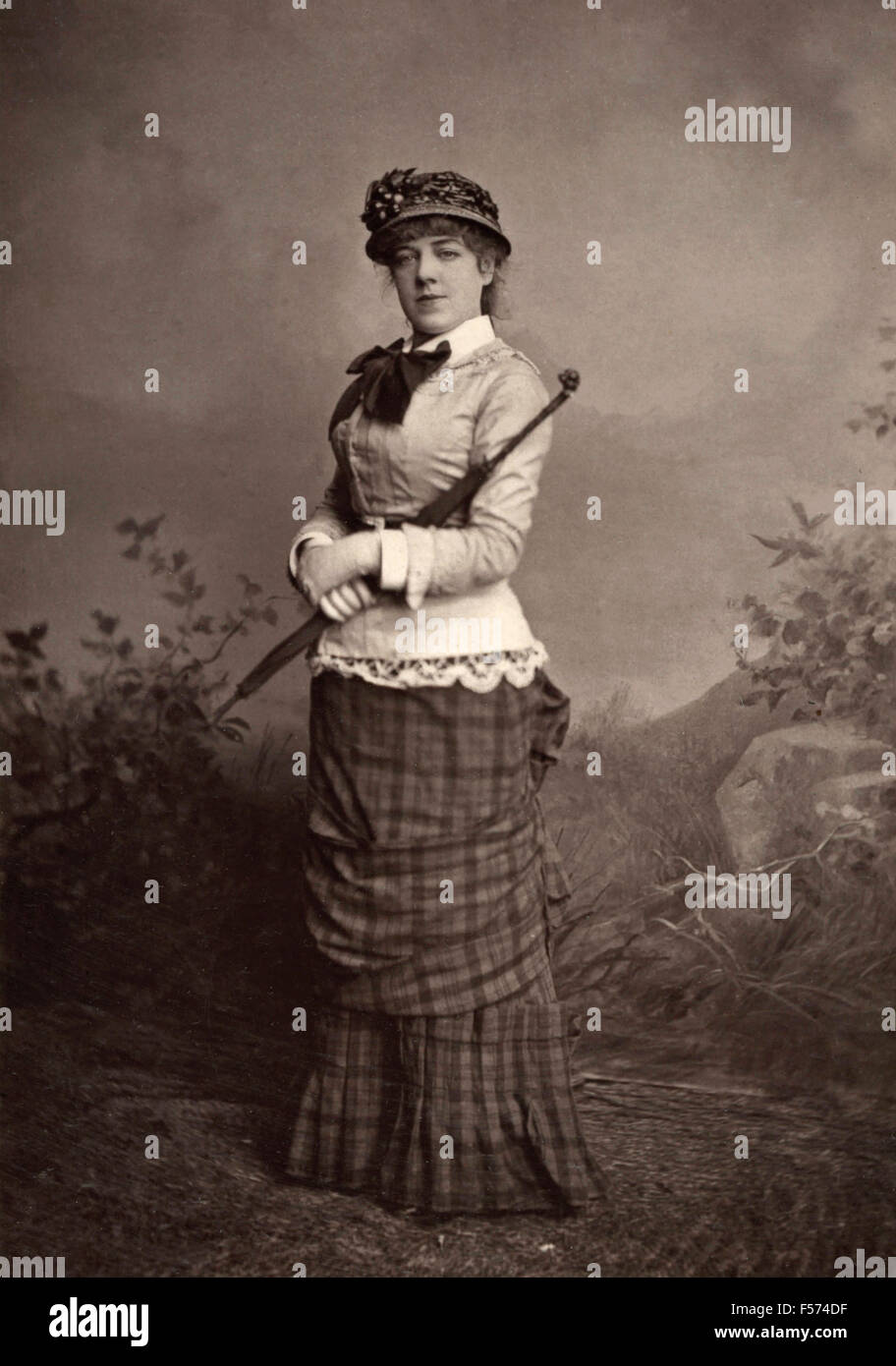 The actress Jeanne Samary the Comedie Francaise - Stock Image