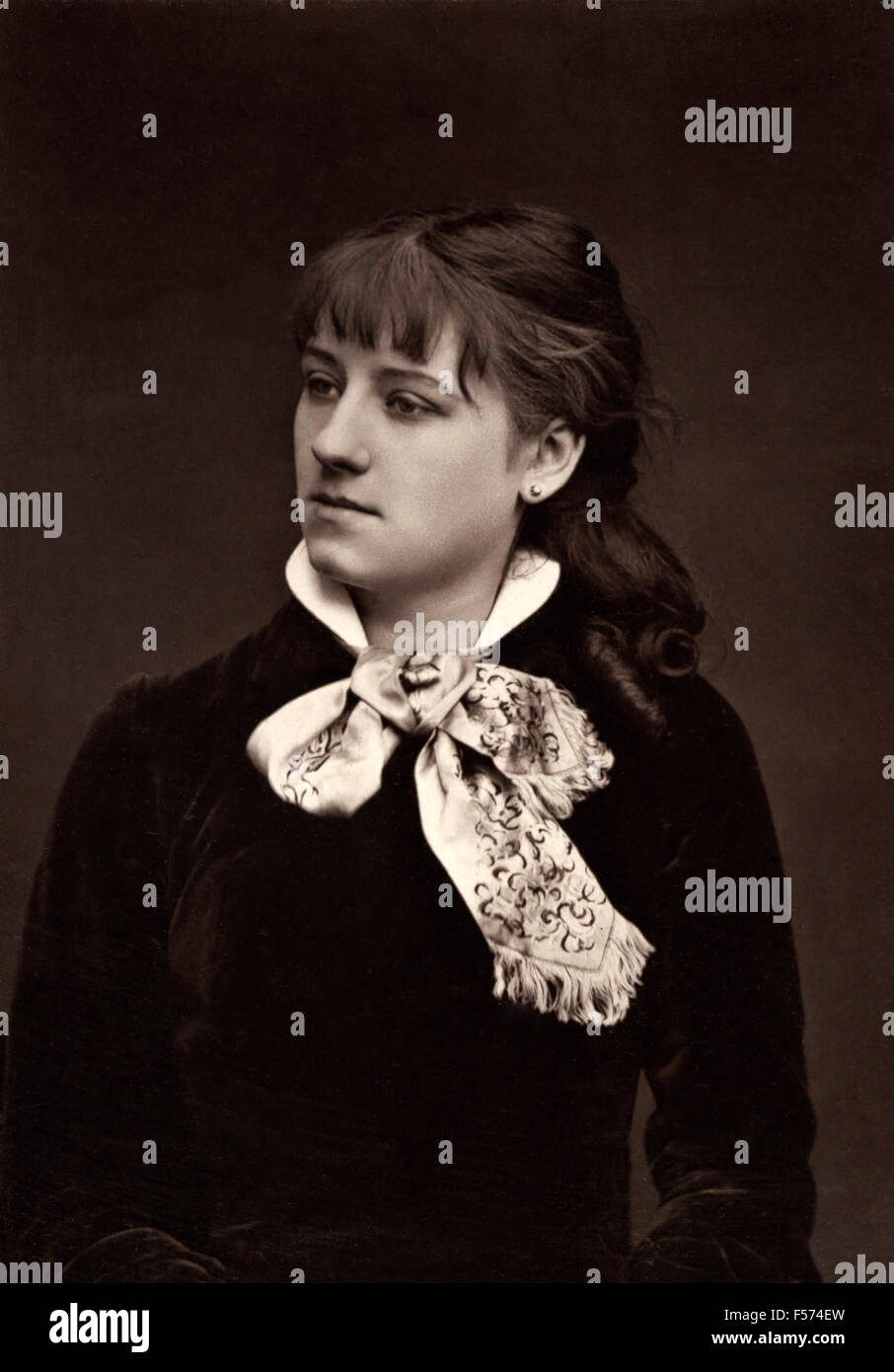 The actress Adeline Dudlay the Comedie Francaise - Stock Image