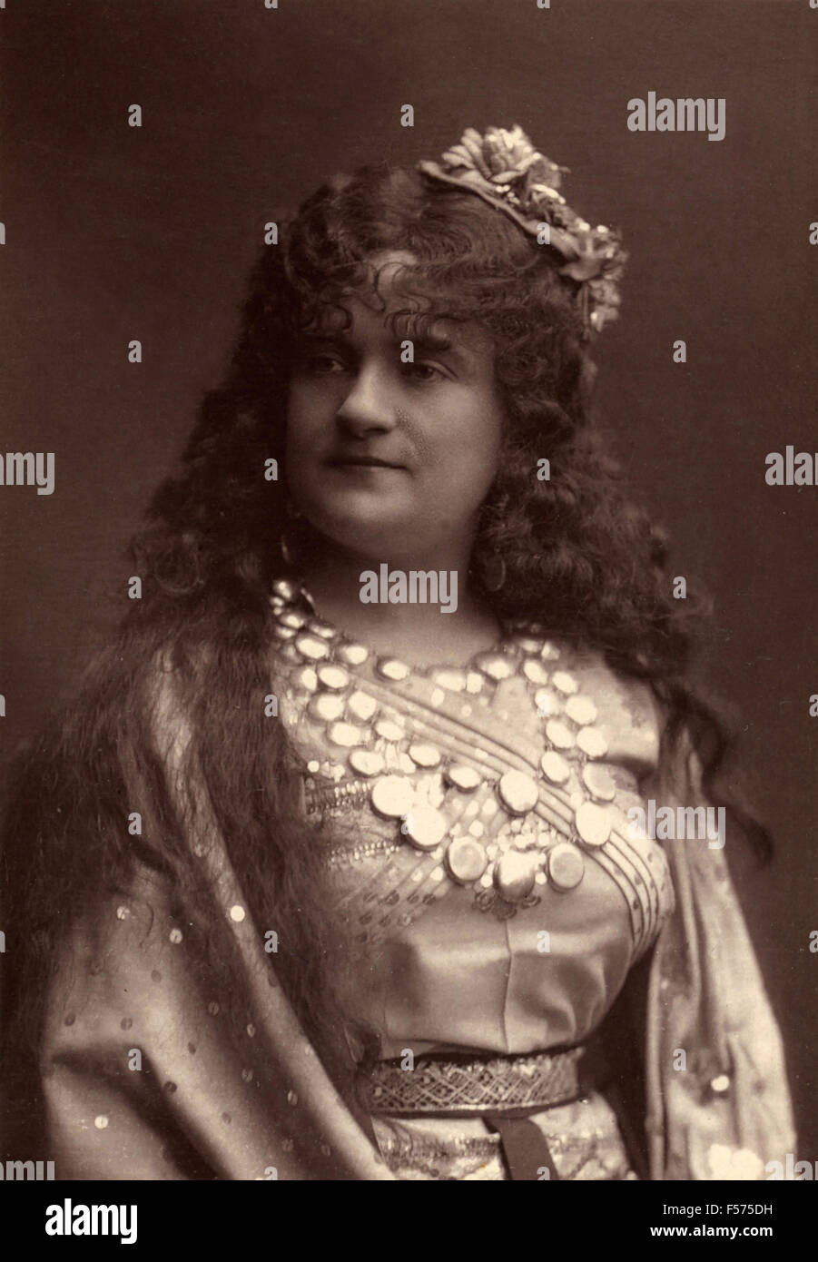 Actress Zulma Bouffar, de la Porte-Saint-Martin - Stock Image