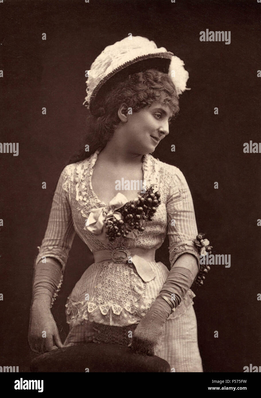 The French actress Alice Regnault of the Gymnase-dramatique - Stock Image