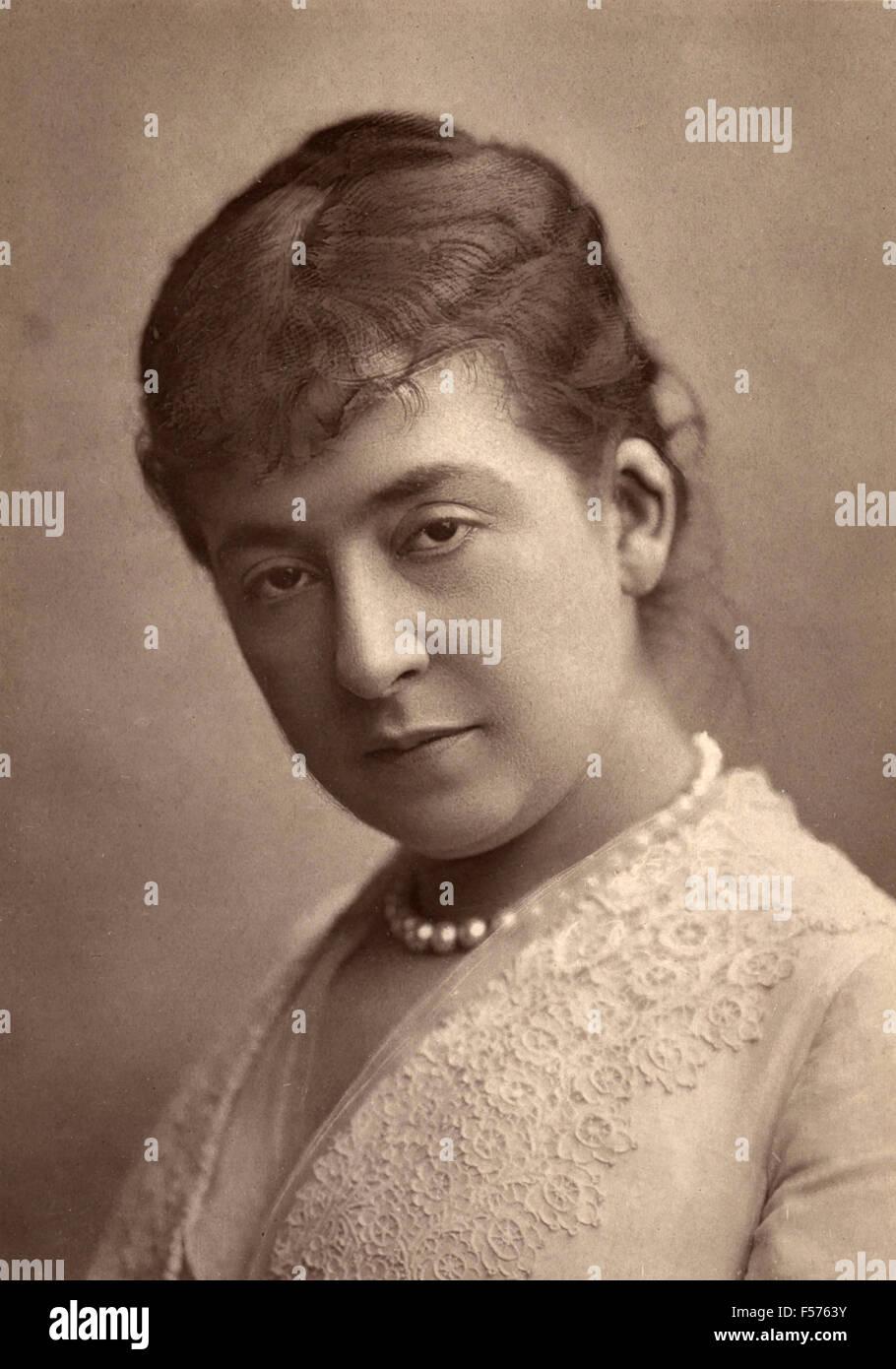 The French actress Leonide Leblanc of the Gymnase-dramatique - Stock Image