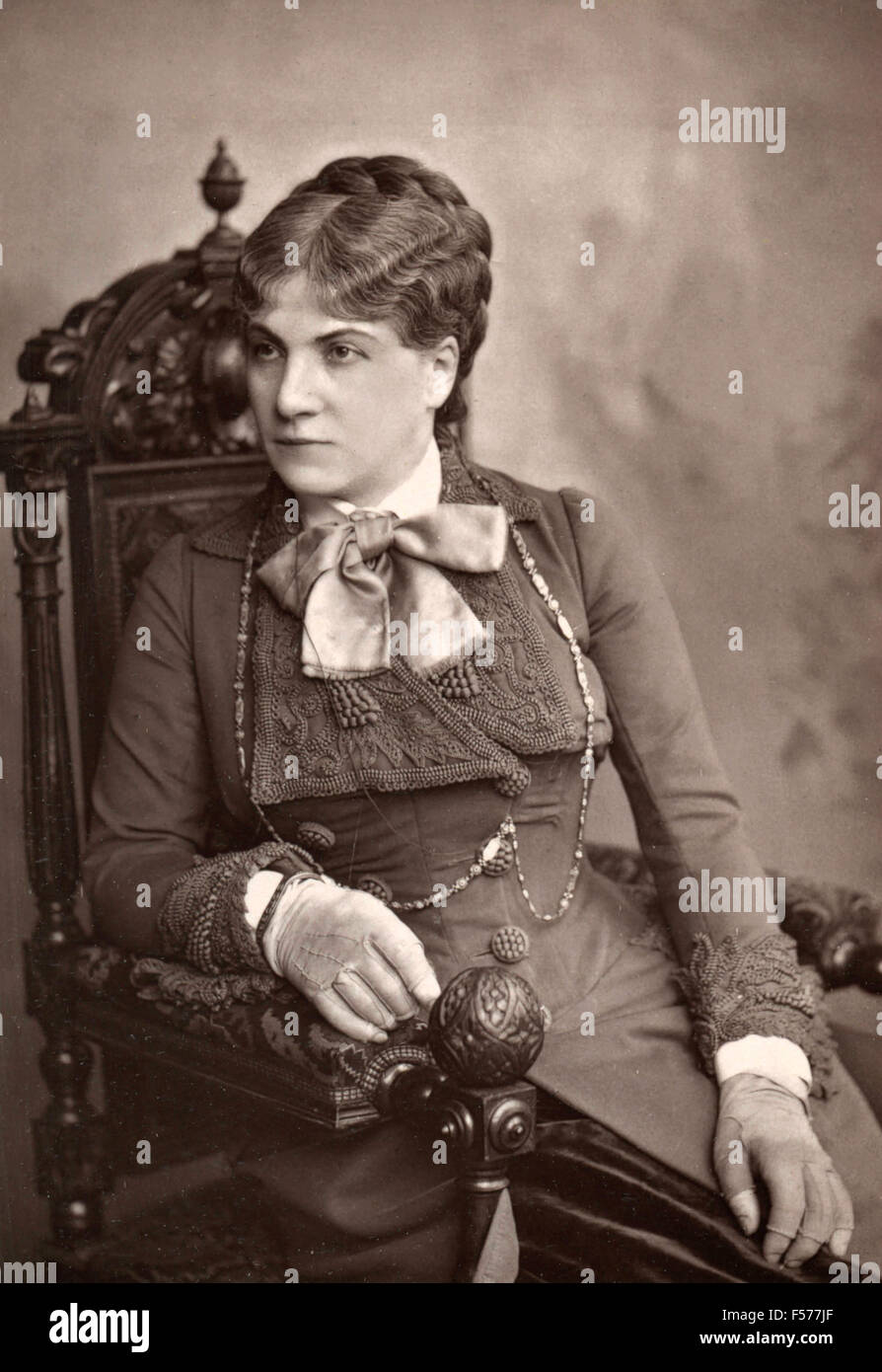 The French actress Pasca of the Gymnase-dramatique - Stock Image