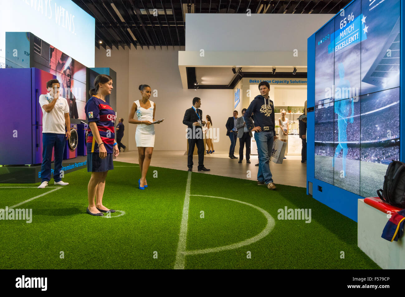 Exhibition Stand Game : Stand of company beko interactive game of football international