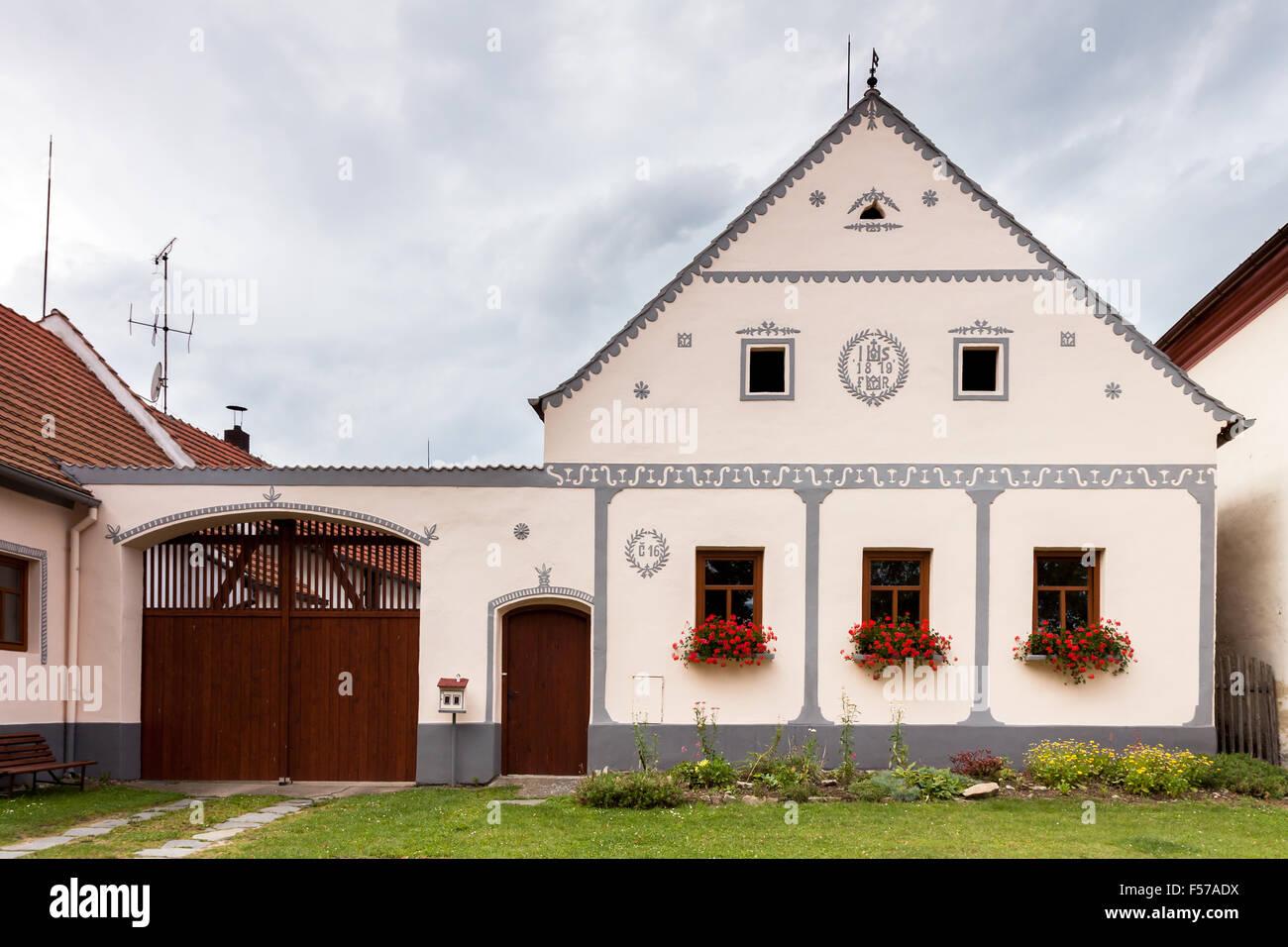Czech Republic - UNESCO village Holasovice in South Bohemia - Stock Image