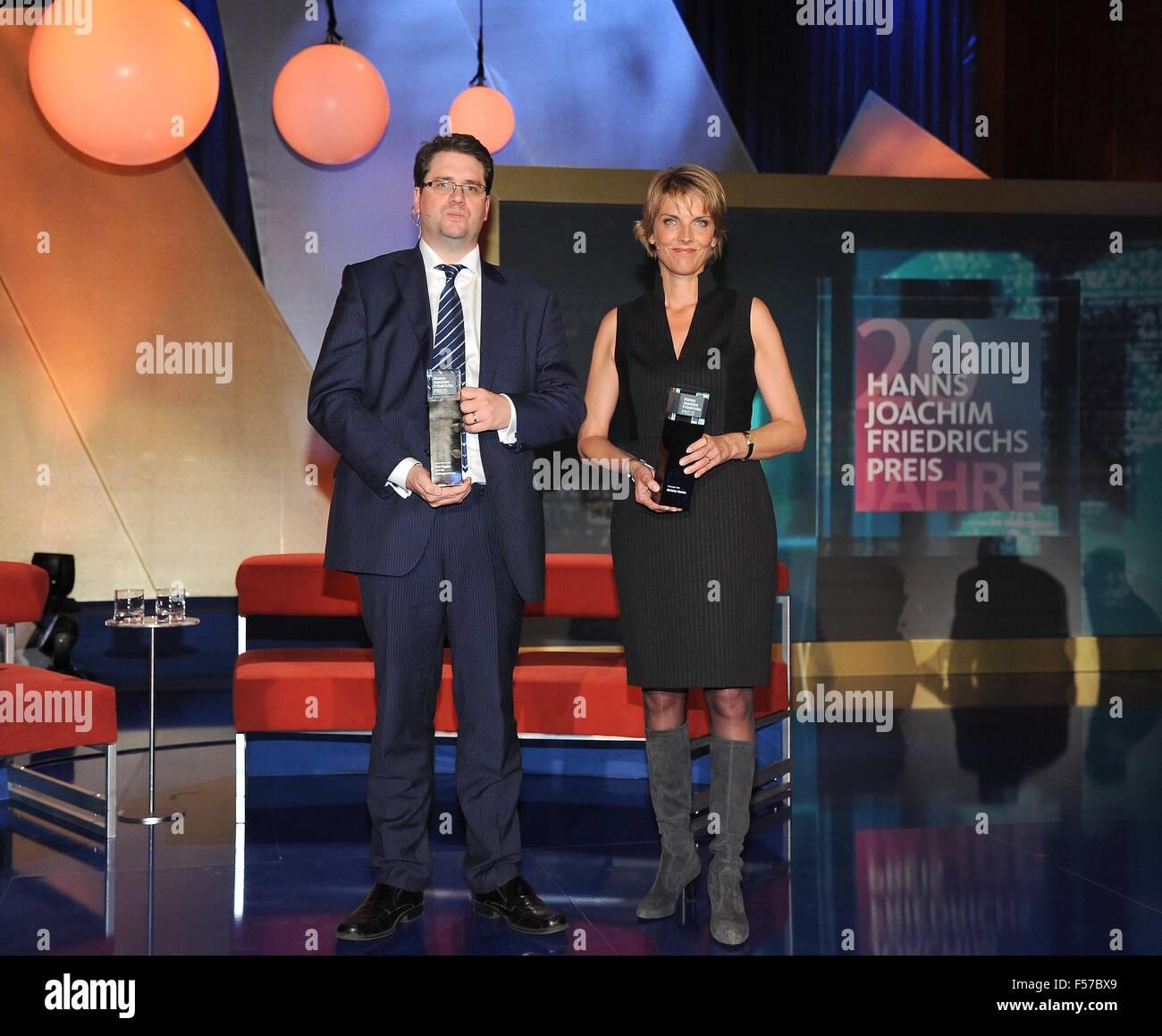 Winner Fashion Journalist Of The Year: Marietta Slomka Stock Photos & Marietta Slomka Stock