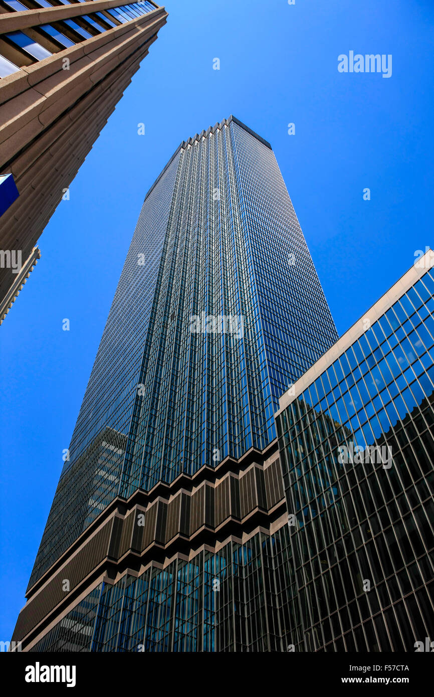 The IDS Center skyscraper on 6th Street in downtown Minneapolis MN - Stock Image