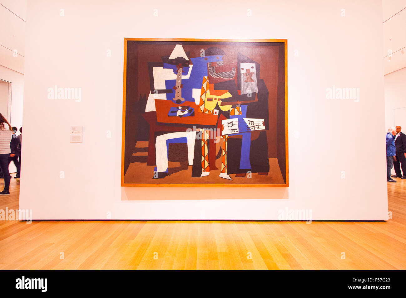 Pablo Picasso Three Musicians 1921 Painting At Moma The Museum Of Stock Photo Alamy