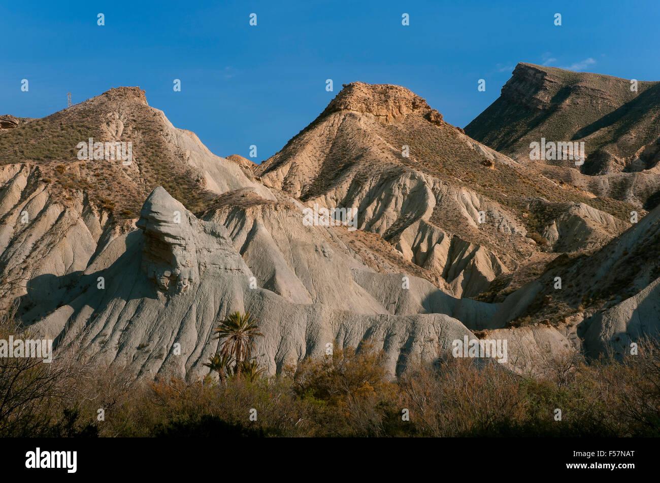 Natural Spot Tabernas Desert, Almeria province, Region of Andalusia, Spain, Europe Stock Photo