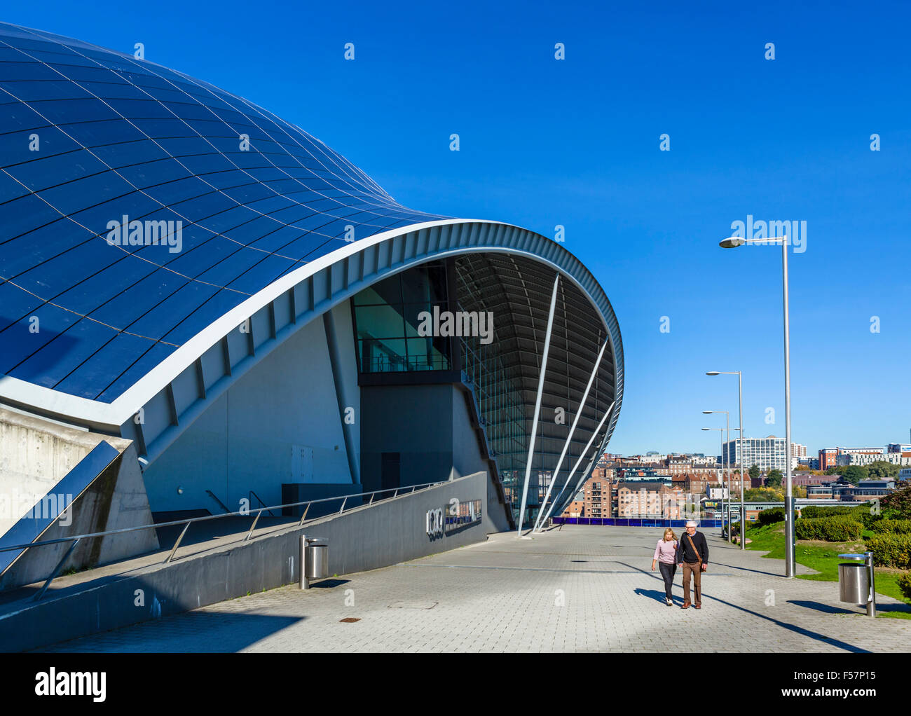 The entrance to the Sage Gateshead, Newcastle, Tyne and Wear, UK - Stock Image