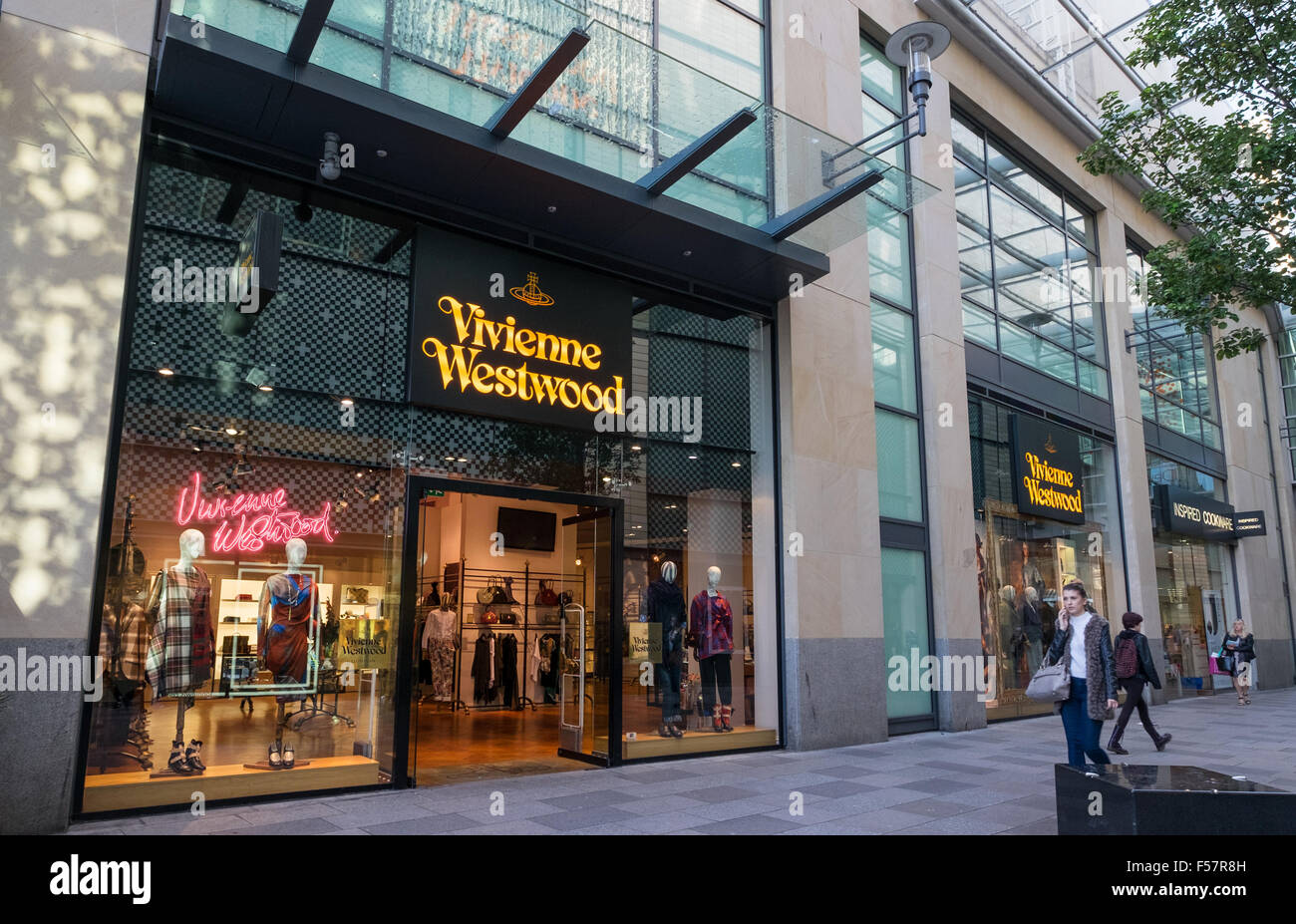Exterior of the Vivienne Westwood shop, St Davids Centre, Cardiff, South Wales - Stock Image