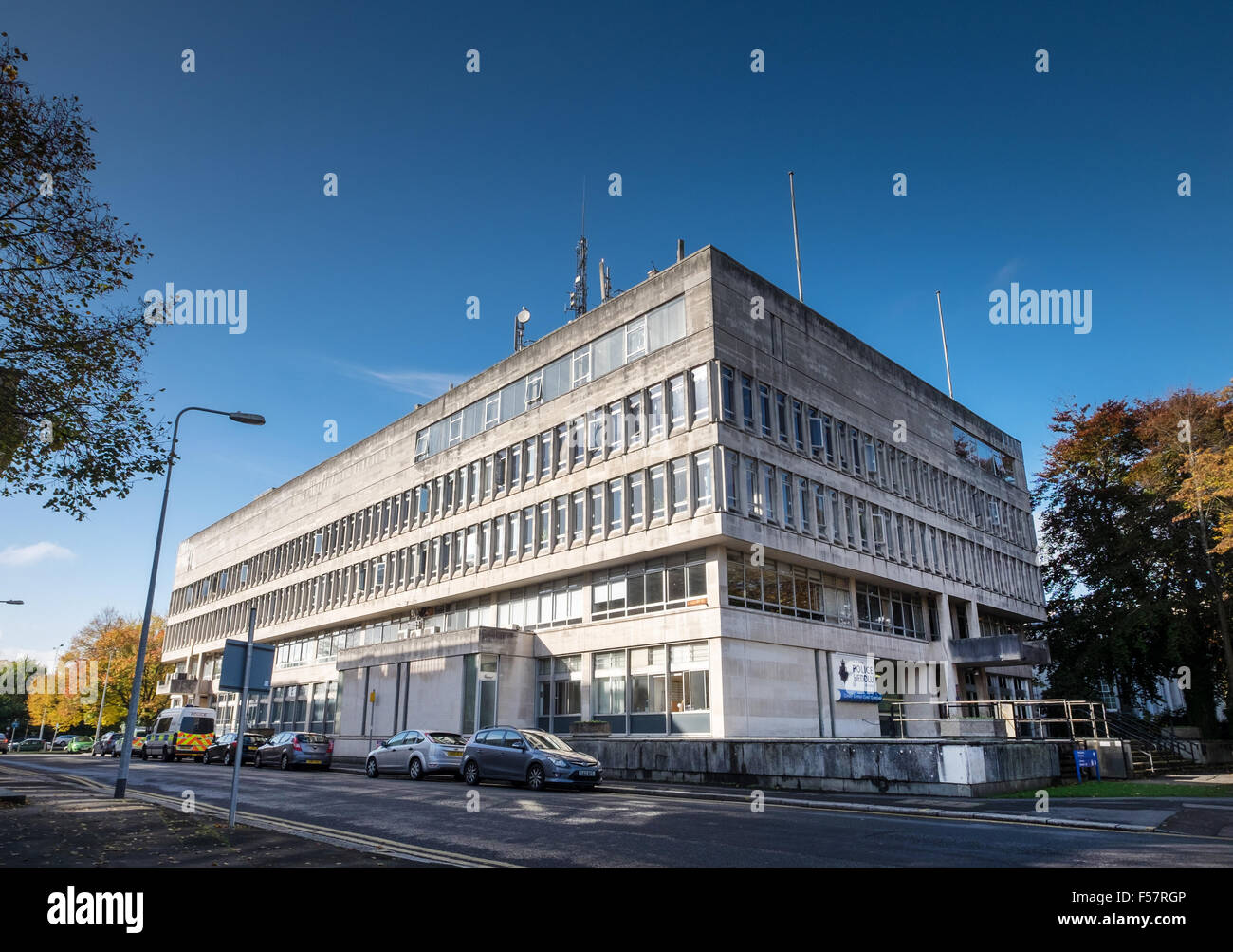 Cardiff Central Police Station exterior, Cardiff, South Wales, UK - Stock Image