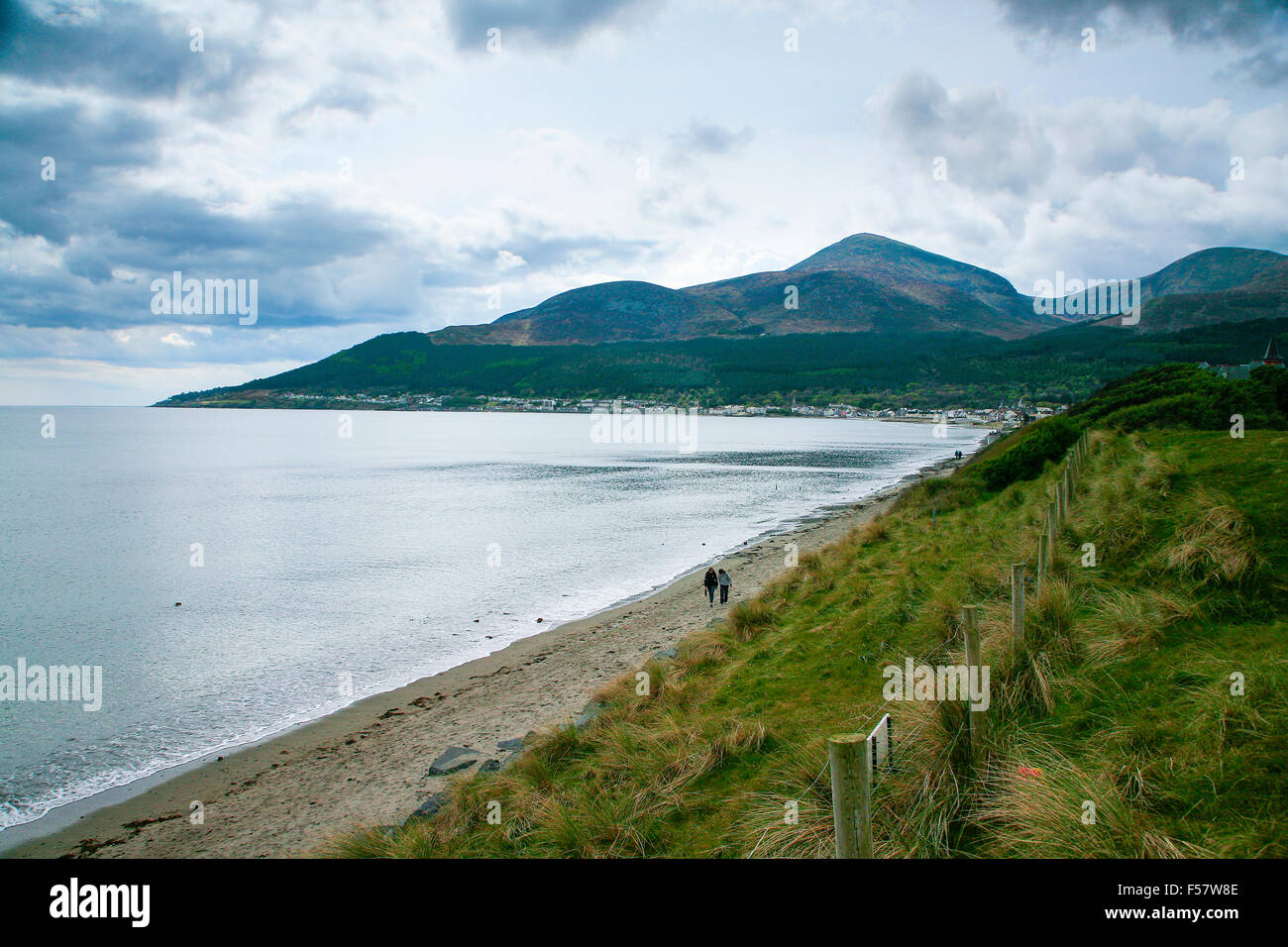 Mountains of Mourne, County Down and Northern Ireland coast - Stock Image