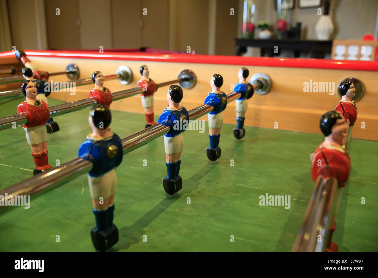 Close up of Table Football players - Stock Image