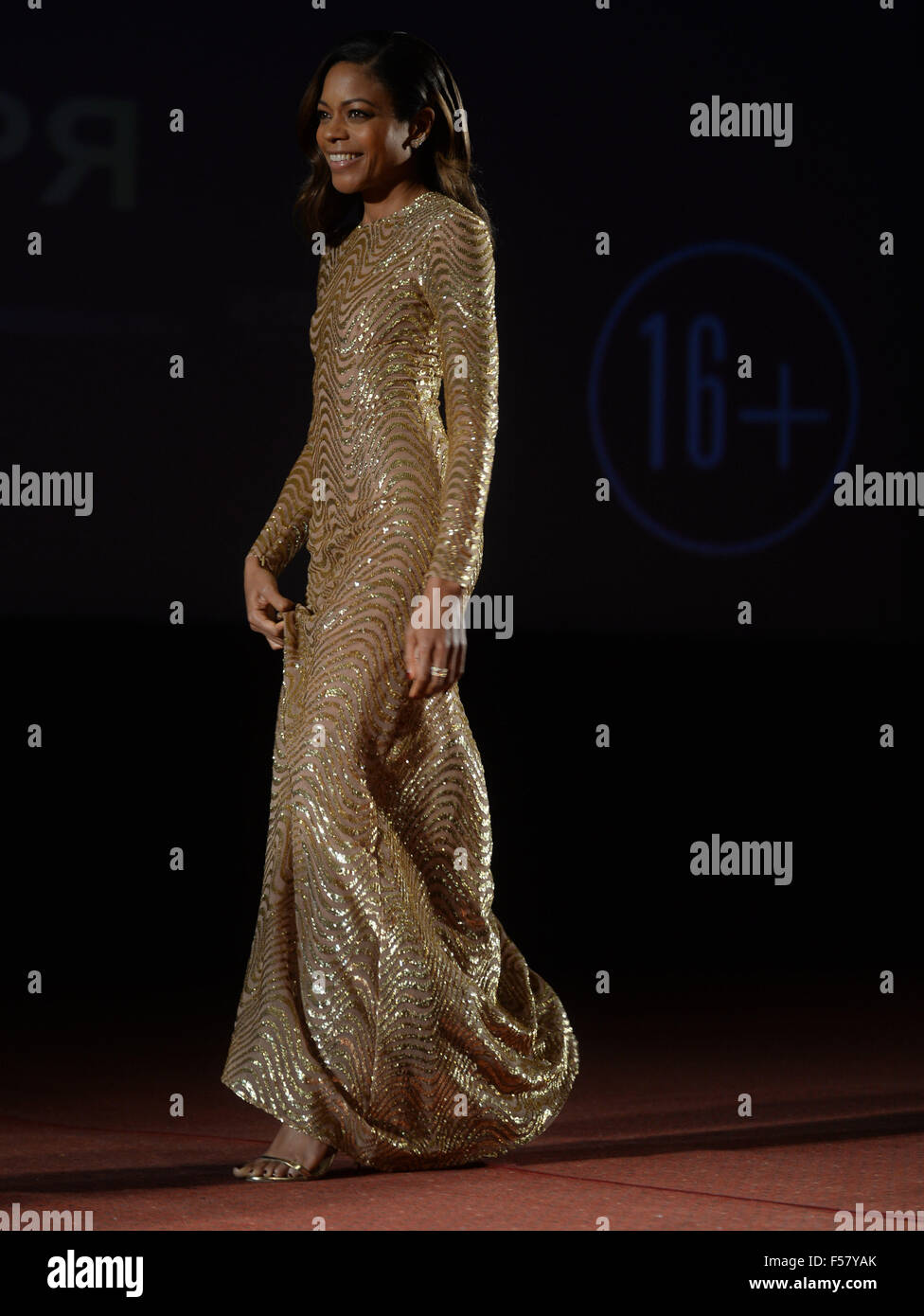 Moscow, Russia. 29th Oct, 2015. British actress Naomie Harris arrives at the new James Bond movie 'Spectre' - Stock Image