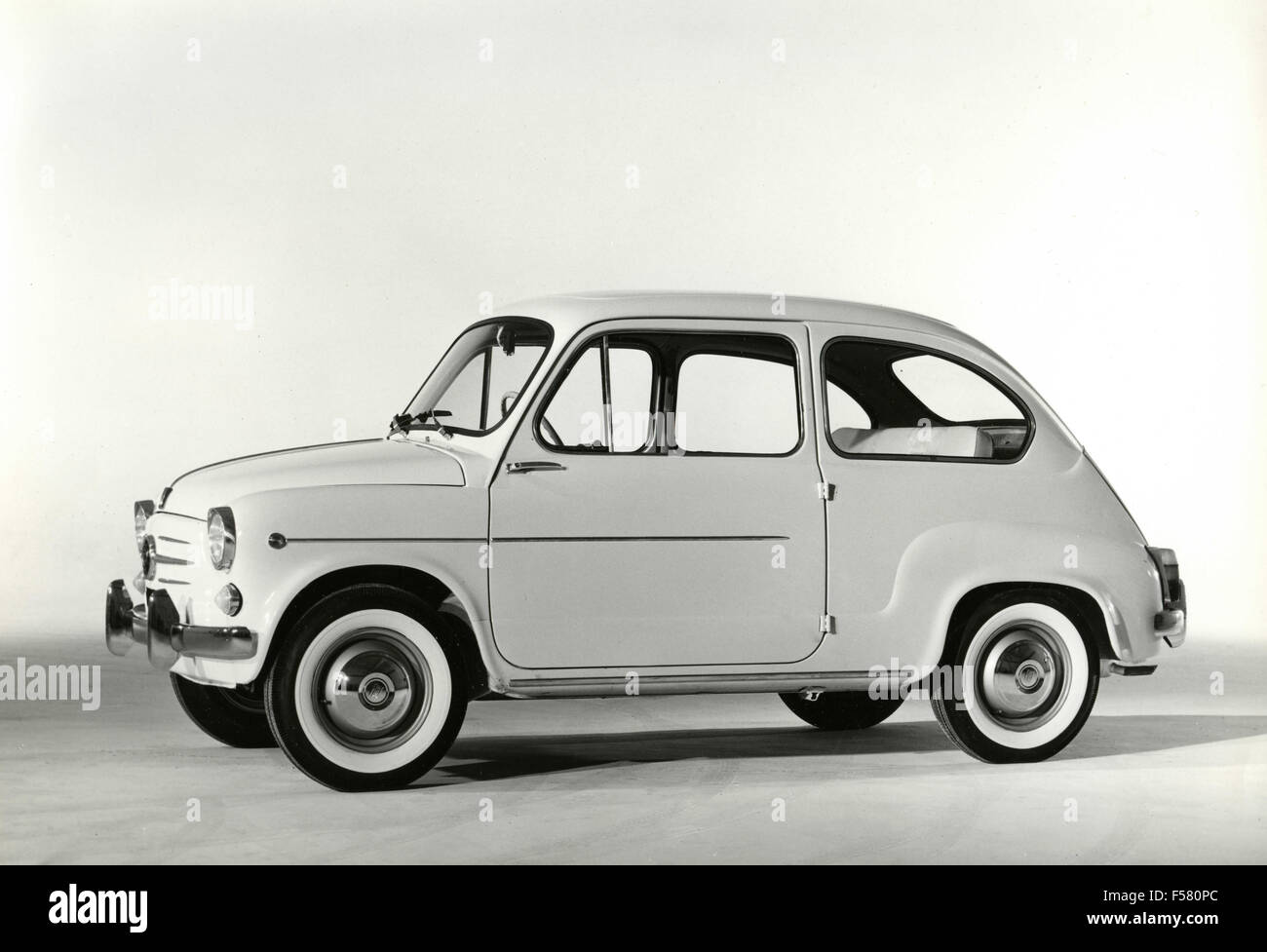 The car FIAT 600 D, Italy - Stock Image