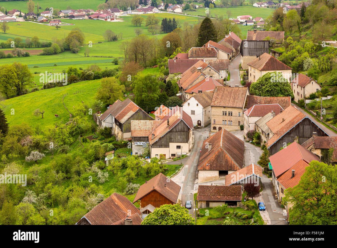 Chateau de Belvoir, Doubs, Franche-Comté, France, Europe. - Stock Image