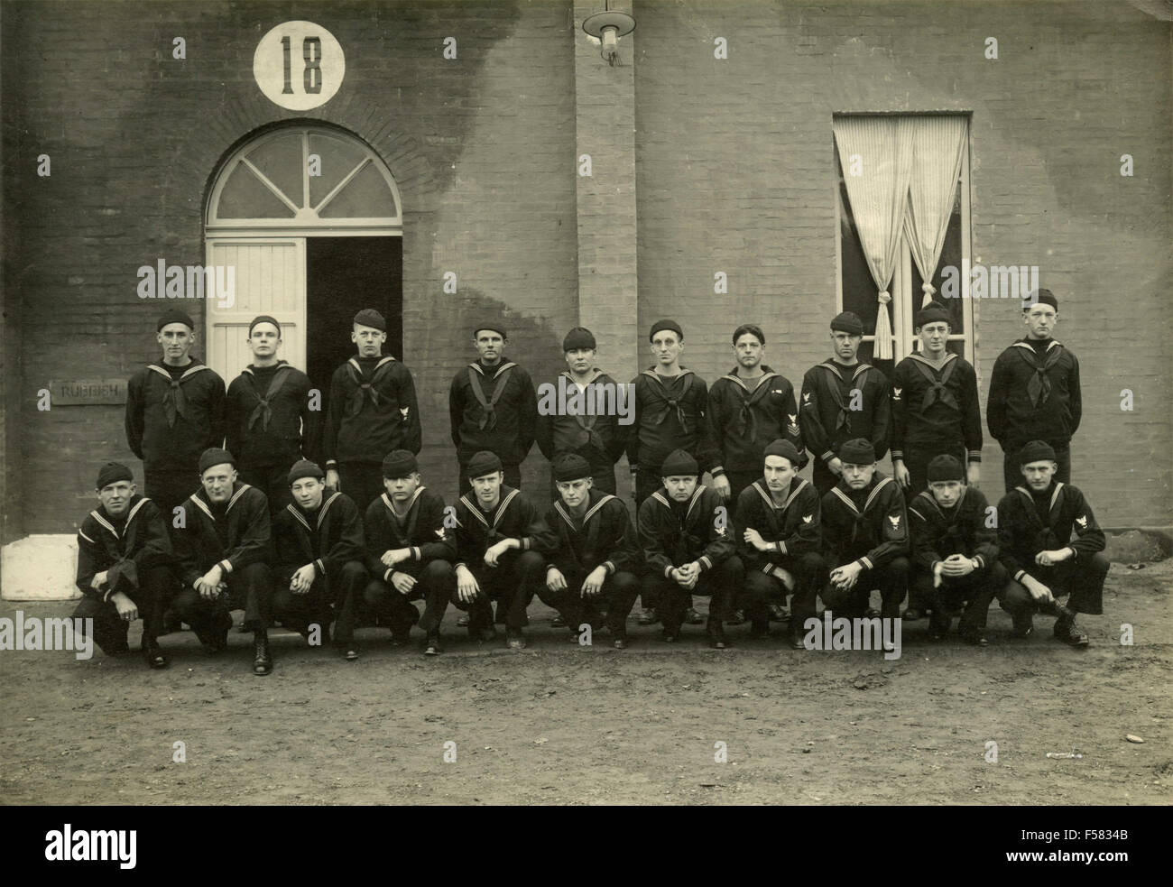 Group photo of Marines - Stock Image