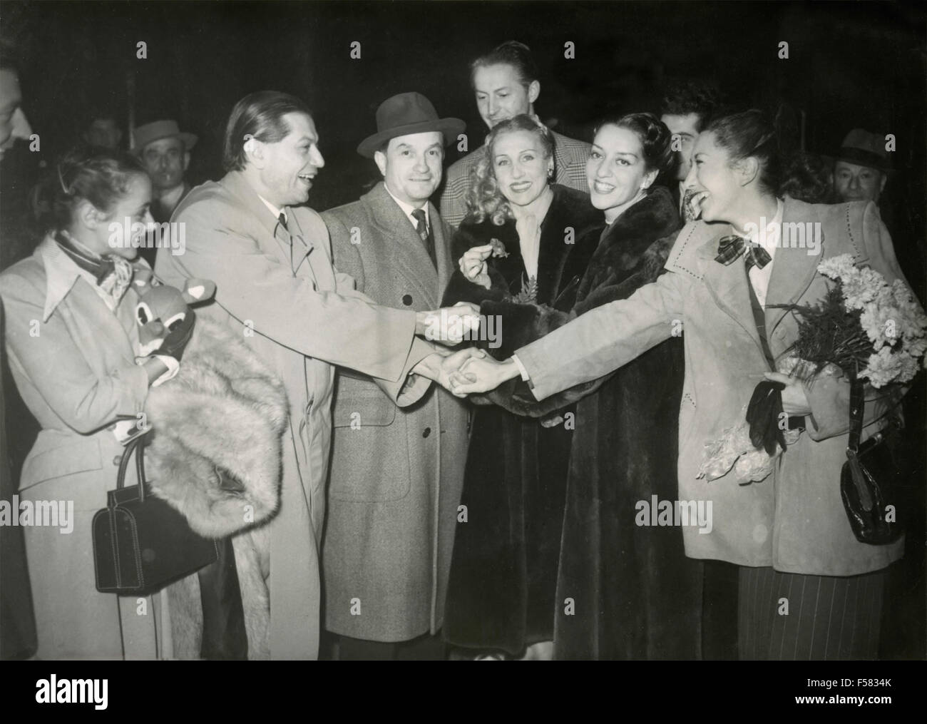 Daydé, Serge Lifar, Georges Hirsch, Darsonval Bardin and the Corps de Ballet of the Opera, Paris, France - Stock Image