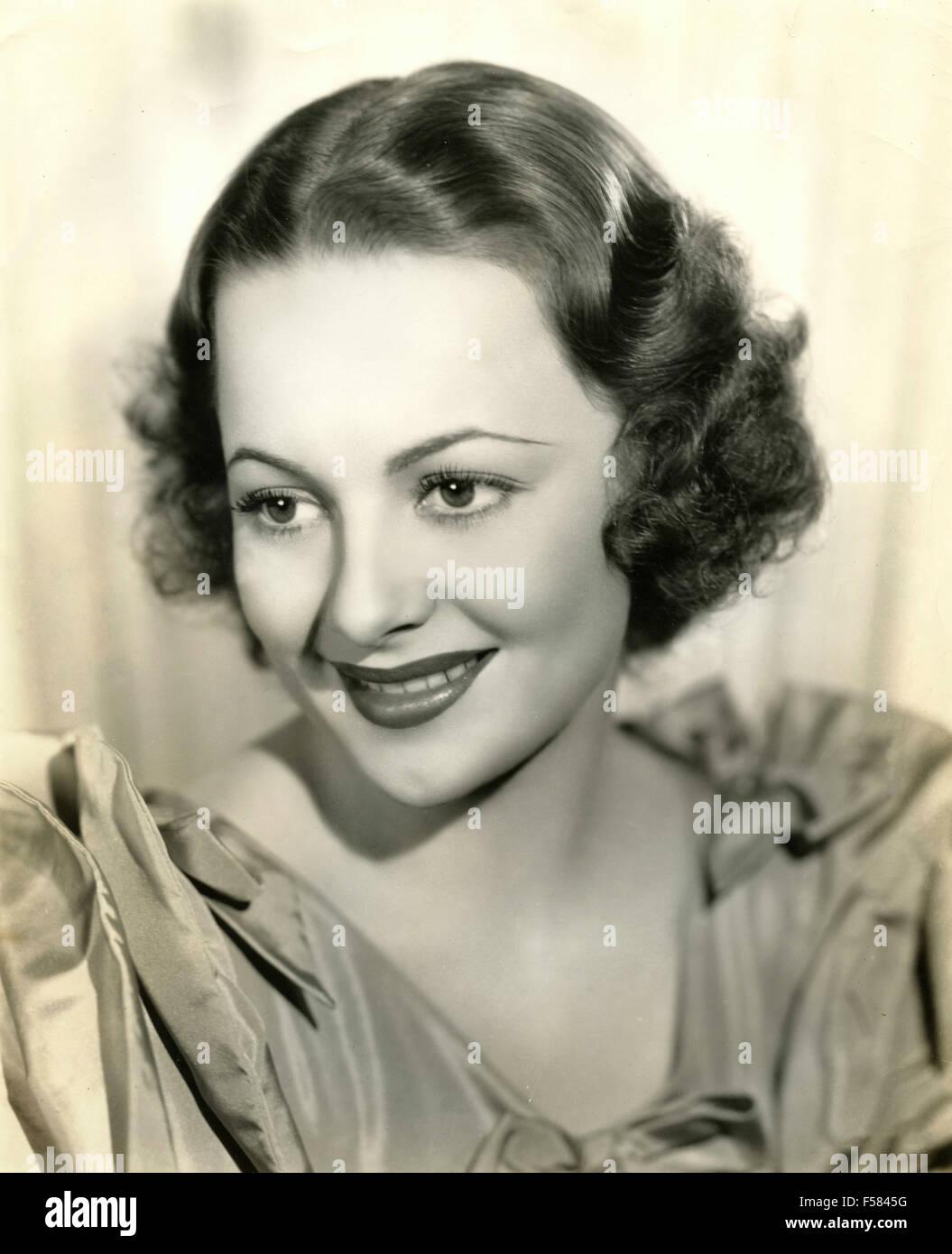 The American actress Olivia De Havilland - Stock Image