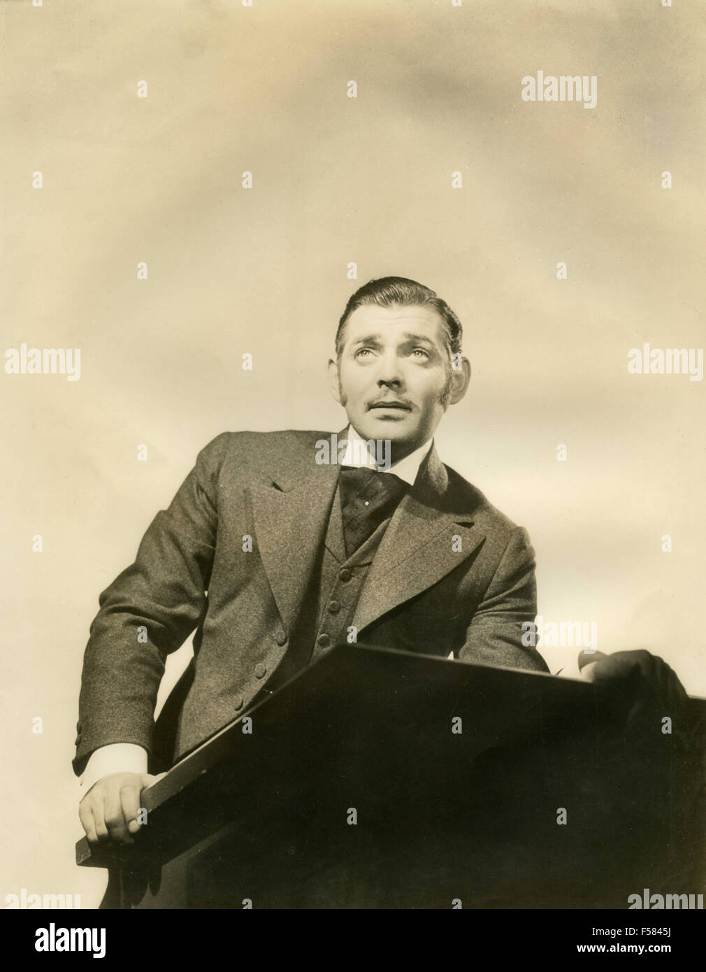 The American actor Clark Gable in the movie Parnell, 1937 - Stock Image