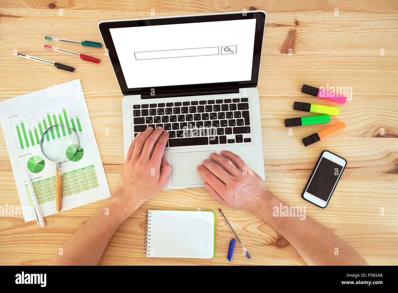 business plan and market research Stock Photo
