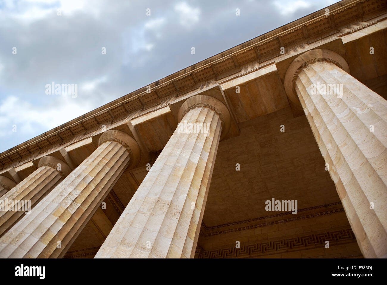 Stone columns of a Greek-Roman building in Bordeaux, France - Stock Image