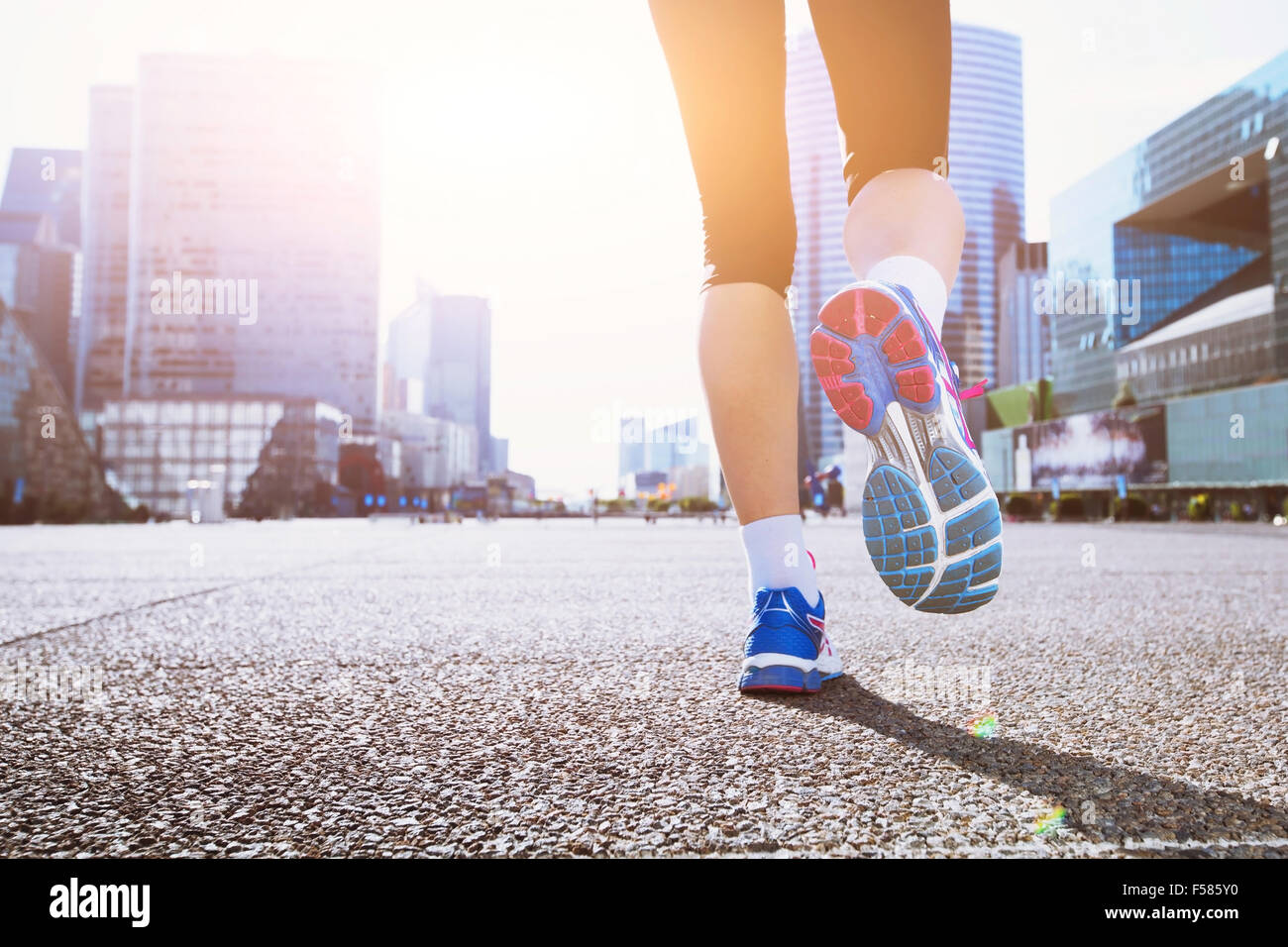 running in the city - Stock Image