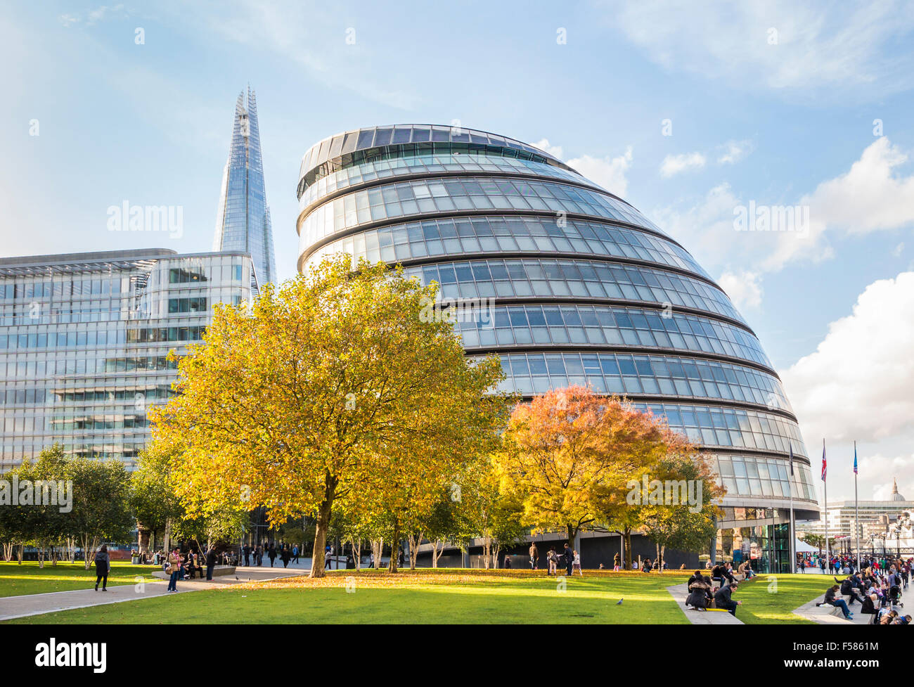 City Hall, More London Riverside, Tooley Street, Southwark, London SE1, headquarters of the Greater London Authority - Stock Image