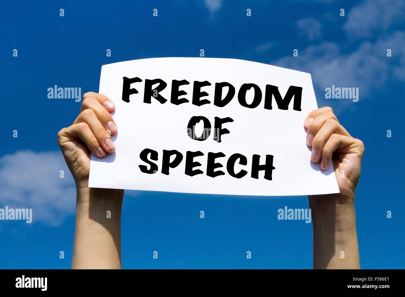 freedom of speech concept - Stock Image