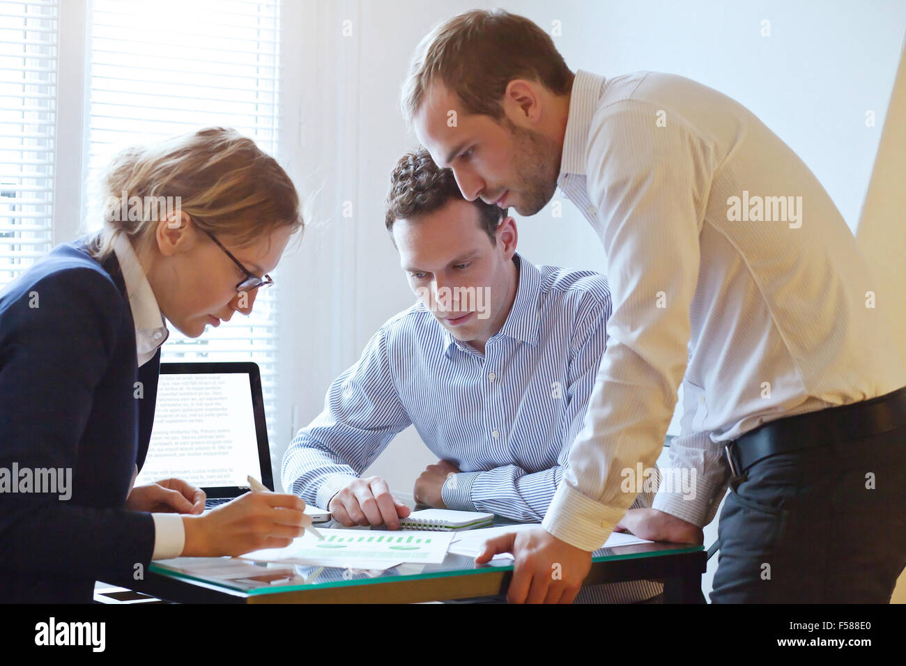 business team working on a project - Stock Image