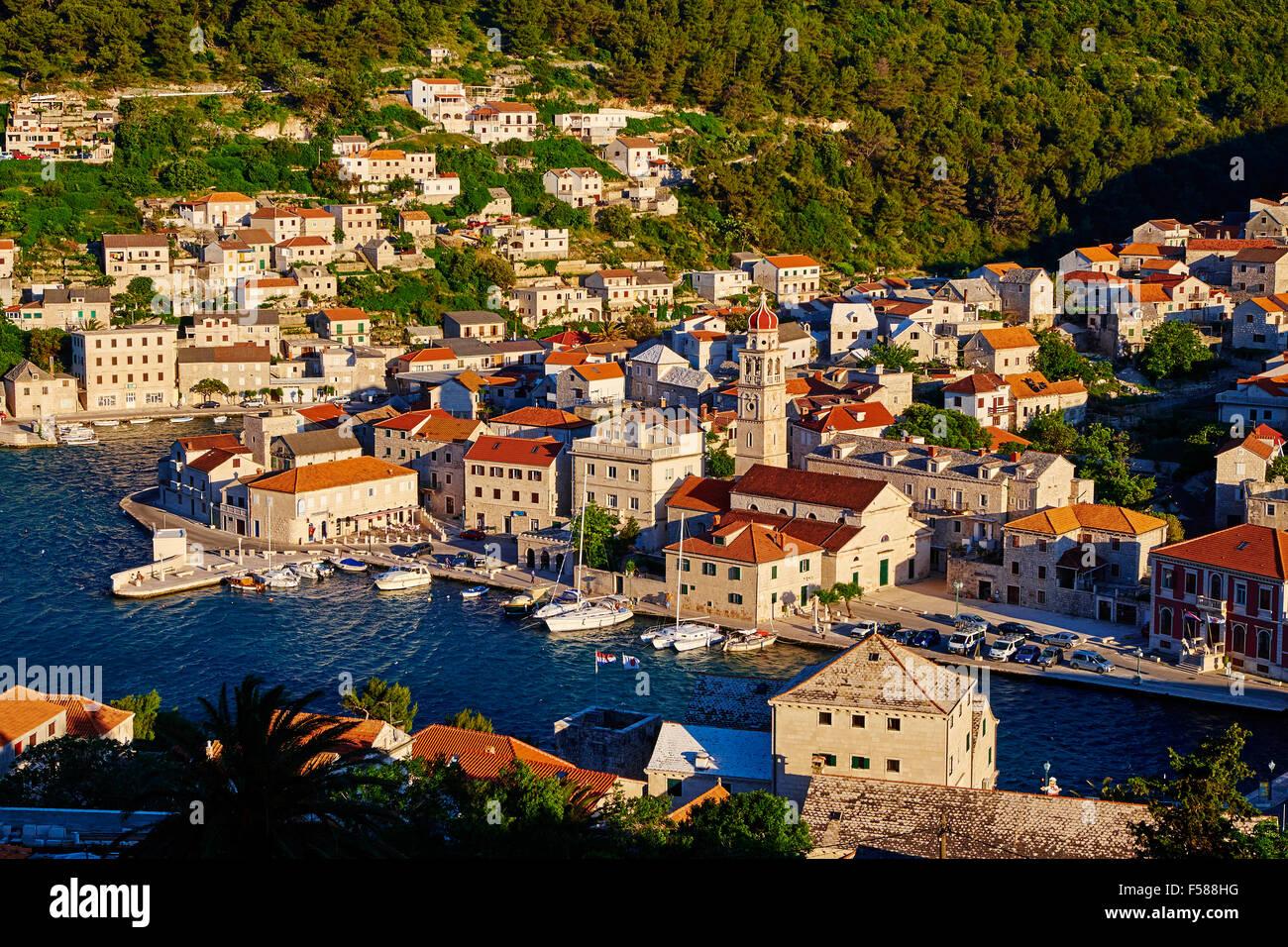 Croatia, Dalmatia, Brac island, Pucisca village - Stock Image