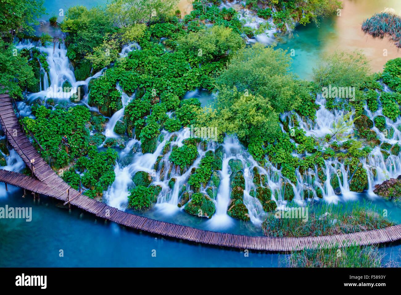 Croatia, Plitvice lakes National Park, Lower Lakes, Unesco World Heritage - Stock Image