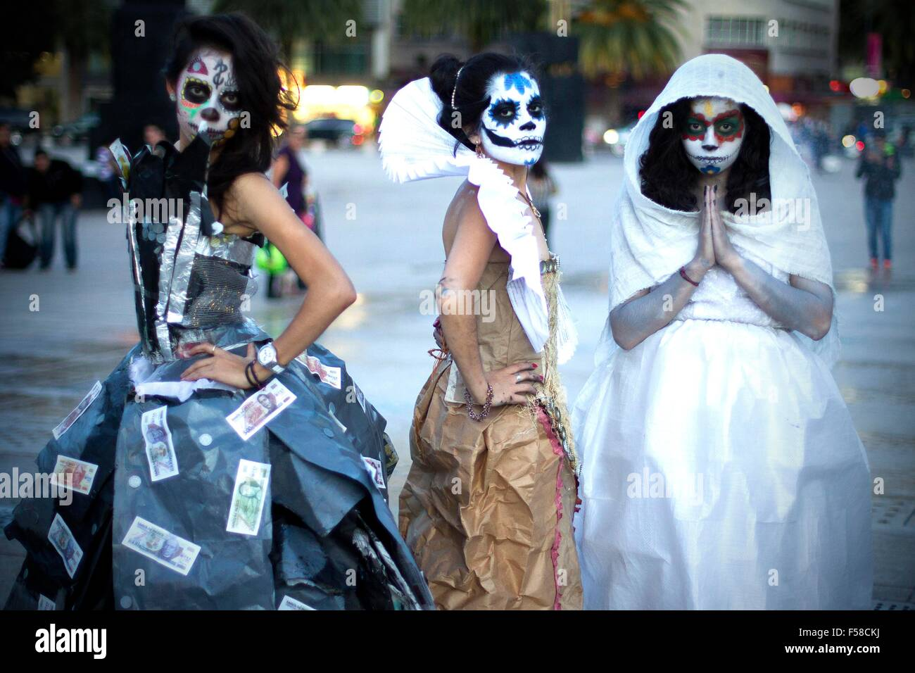 Mexico City Mexico 29th Oct 2015 Art Students Dressed