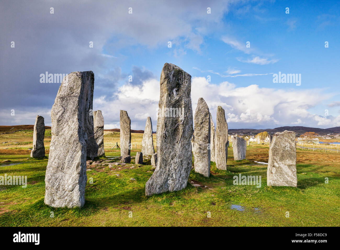 Stone circle at Callanish, Isle of Lewis, Western Isles, Outer Hebrides, Scotland, UK Stock Photo