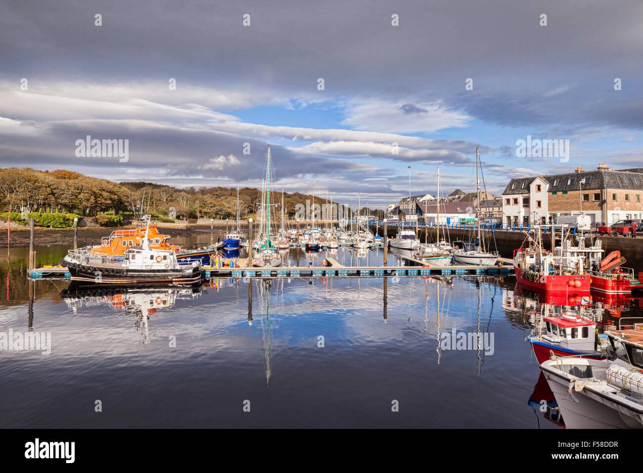 Stornoway Harbour, Isle of Lewis, Outer Hebrides, Scottish Highlands, Scotland, UK - Stock Image