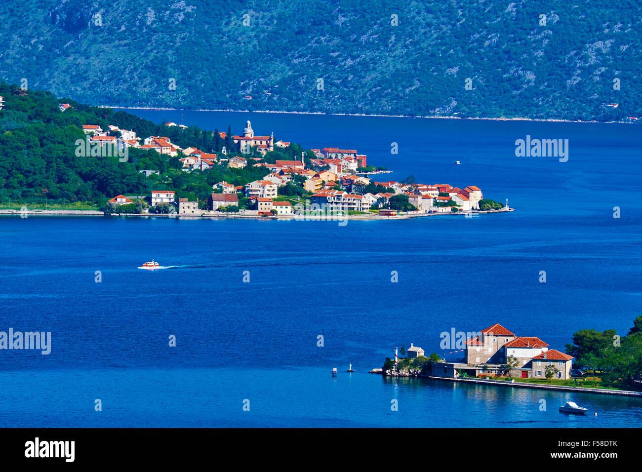 Montenegro, Adriatic coast, Bay of Kotor - Stock Image