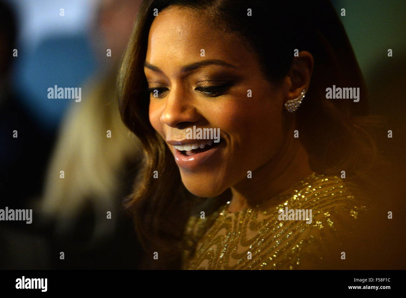 Moscow, Russia. 29th Oct, 2015. British actress Naomie Harris attends the Moscow premiere of a James Bond 007 film - Stock Image