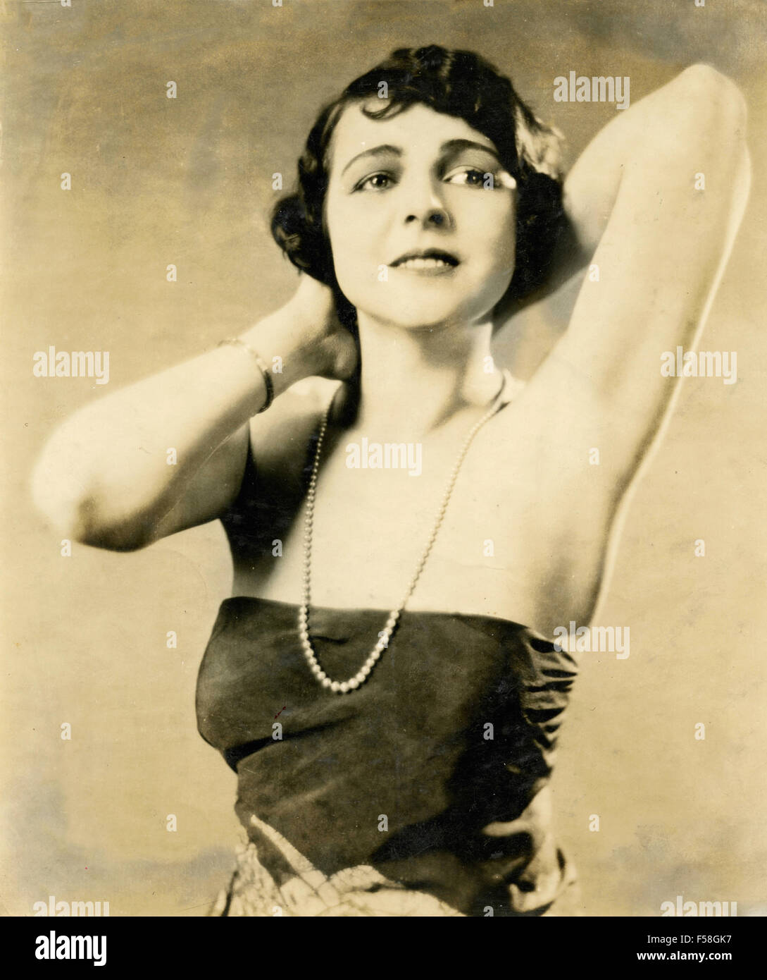 The actress Helene Chadwick in Sin Flood (1922) - Stock Image