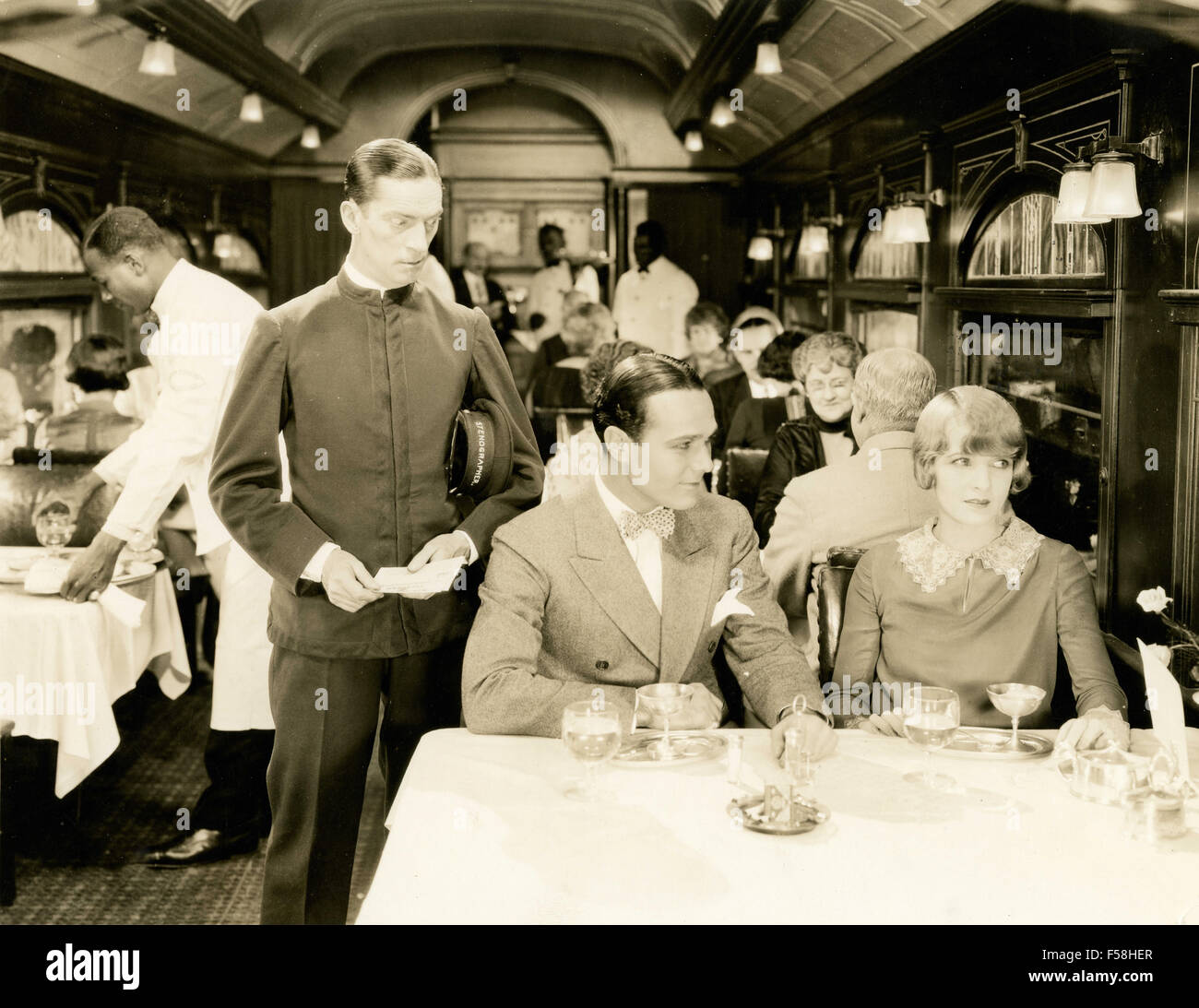 Claire Windsor and William Haines in A Little Journey - Stock Image