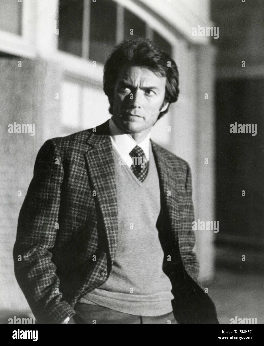 The actor Clint Eastwood in Dirty Harry - Stock Image