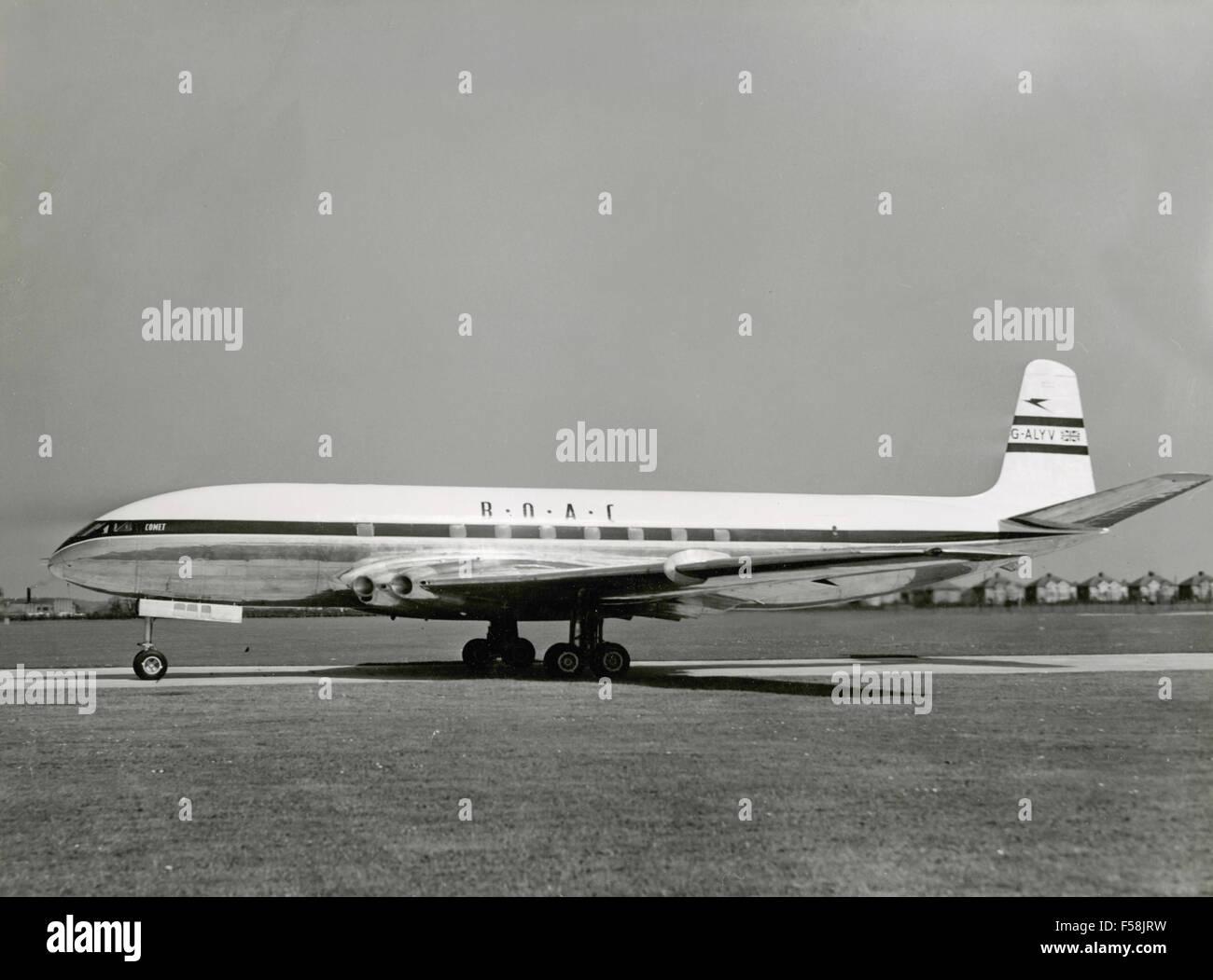 The aircraft De Havilland Comet 1 G-BOAC ALYX - Stock Image