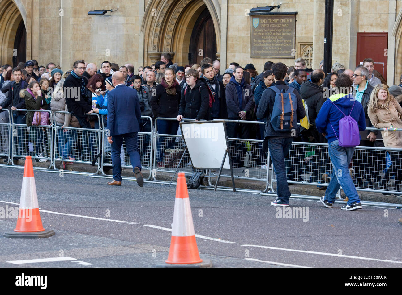 Crowds gather for the Spectre Premiere London England - Stock Image