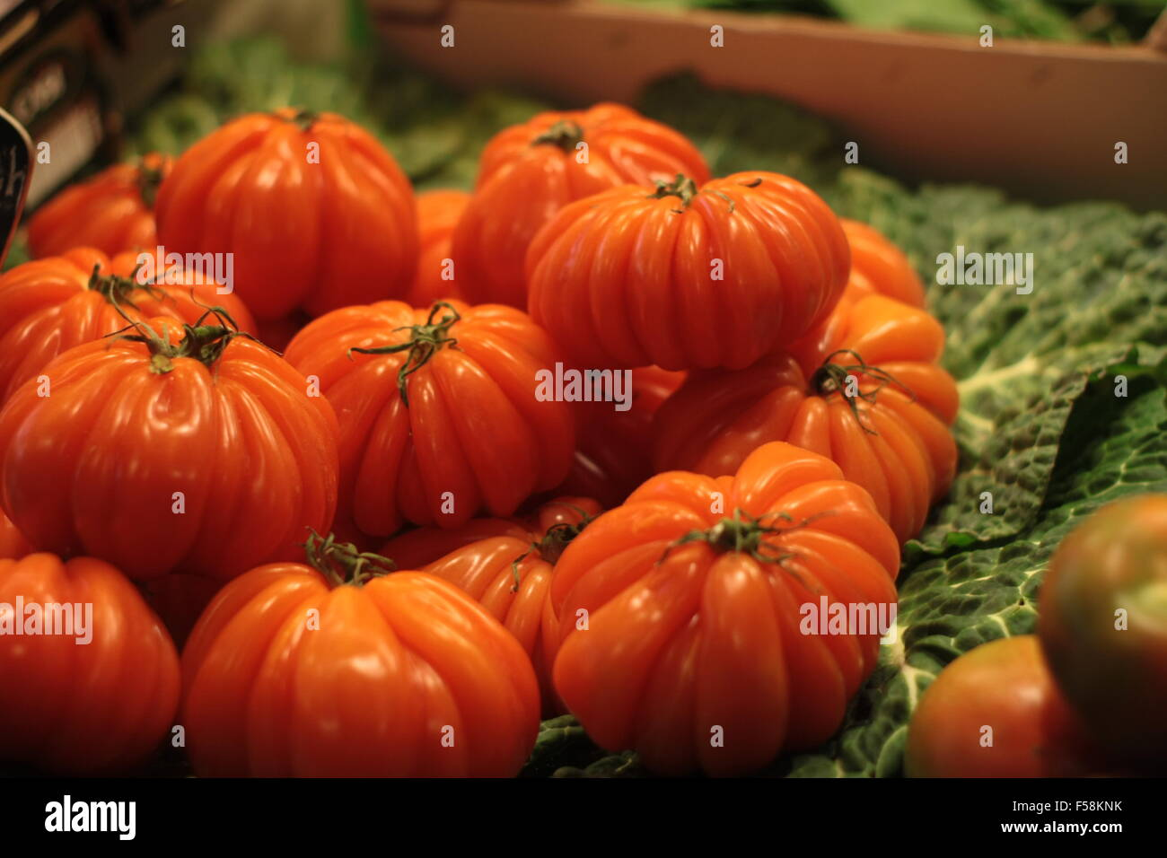 Organic Zapotec Pleated Tomatoes - Stock Image