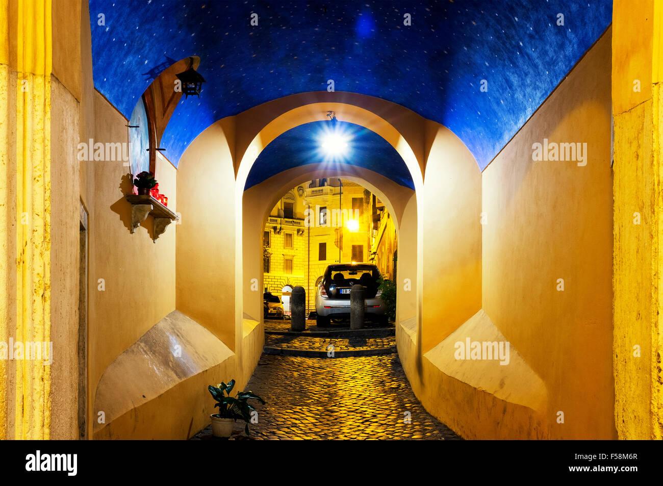 Arco della Madonna dei Banchi, Rome, Italy - Stock Image