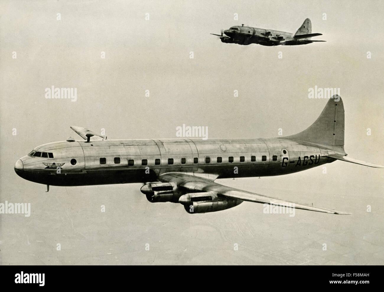 The aircraft Avro Tudor 8 - Stock Image